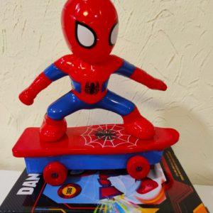 Spider Man on the skateboard